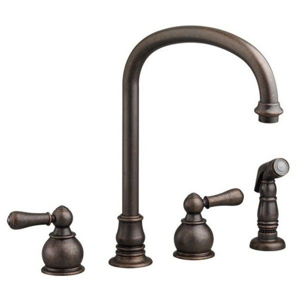 """***8"""" centers Spout reach 9.5"""" Spout height 8-9"""" Hampton 2-Handle High-Arc Kitchen Faucet with Separate Side Spray 4751.732.224"""