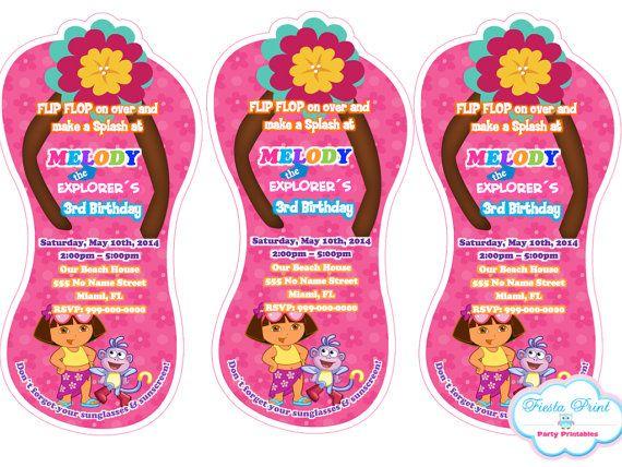 45 best Dora the Explorer Party images – Dora the Explorer Party Invitations