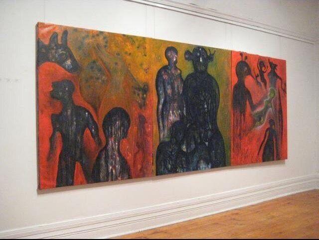 Luis GERALDES. Oil on canvas. 152x366cm.