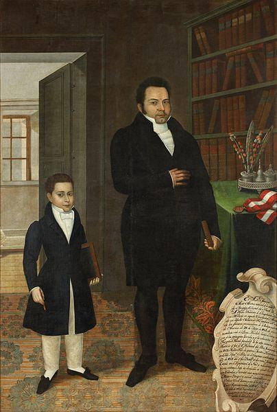 José Gil de Castro - Mariano Alejo Álvarez and his Son.