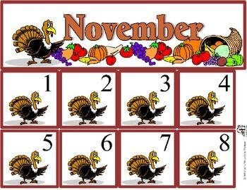November Calendar Set | Classroom Stuff | November ...