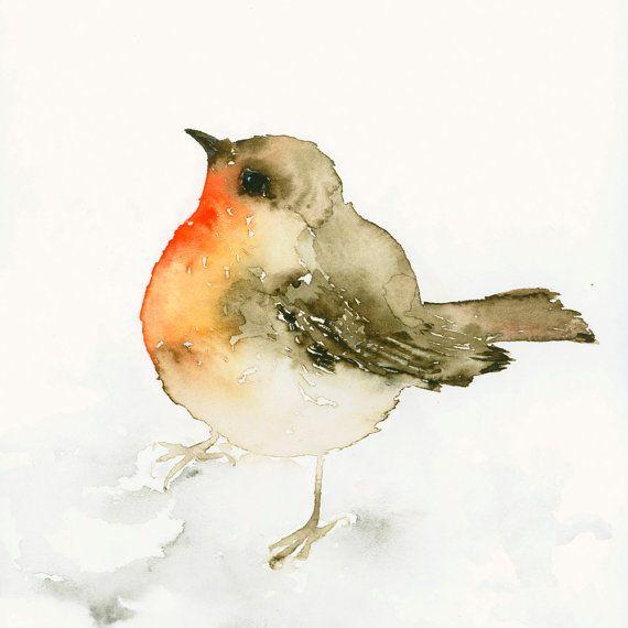 Impresión del arte del pájaro de Original por dearpumpernickel