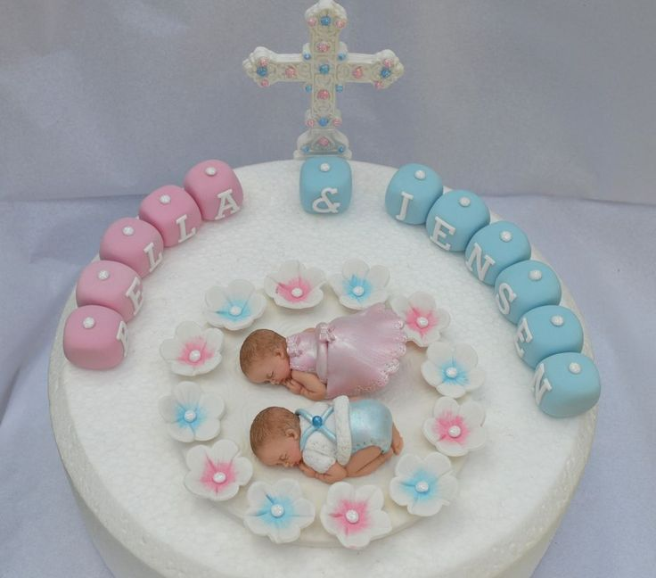 Christening Cake Designs For Twins : 17 Best images about Tartas bautizo, baby shower on ...