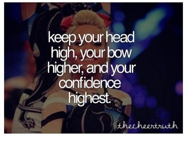 cheerleading quotes, inspiring, motivational, sayings, keep higher | Favimages.net