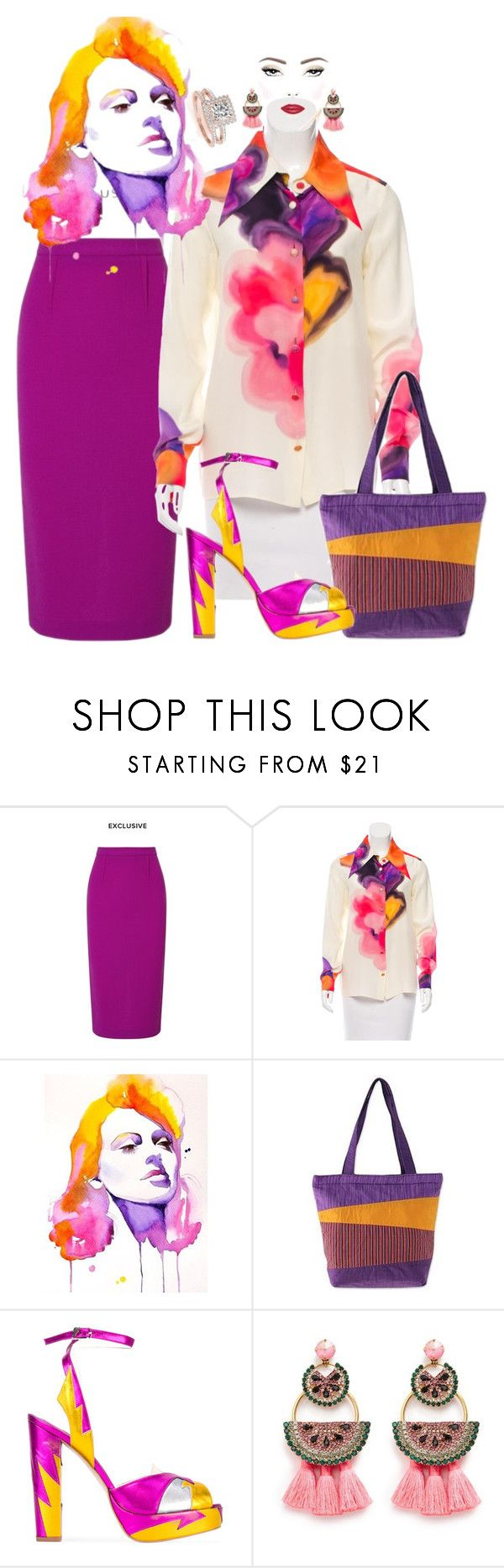 """""""Playing with Colours"""" by shirley-de-gannes ❤ liked on Polyvore featuring Roland Mouret, Chanel, Dolce&Gabbana, NOVICA, Terry de Havilland, Elizabeth Cole and Allurez"""
