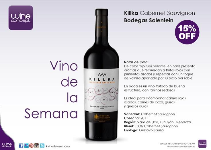 Vino de la Semana en Wine Concept Killka Cabernet Sauvignon - Bodegas Salentein