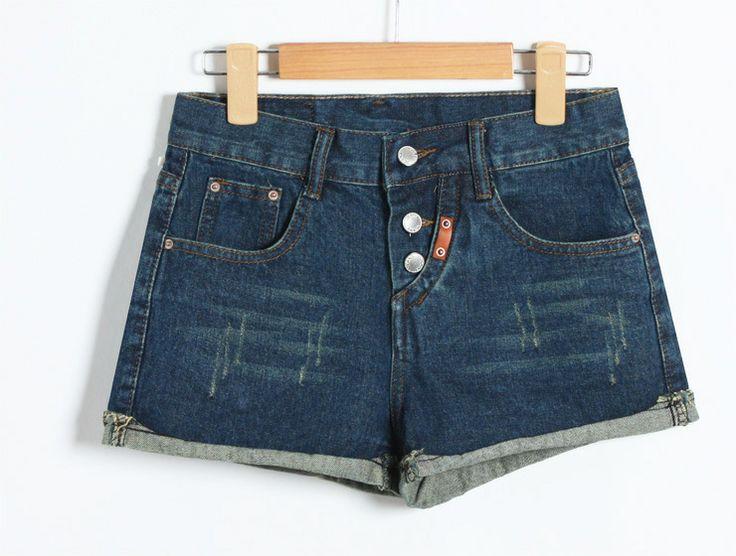 Корейская версия новой моды диких талии носить свободно, чтобы сделать старые вымытые джинсовые шорты шорты женский весеннего половодья - Та ...