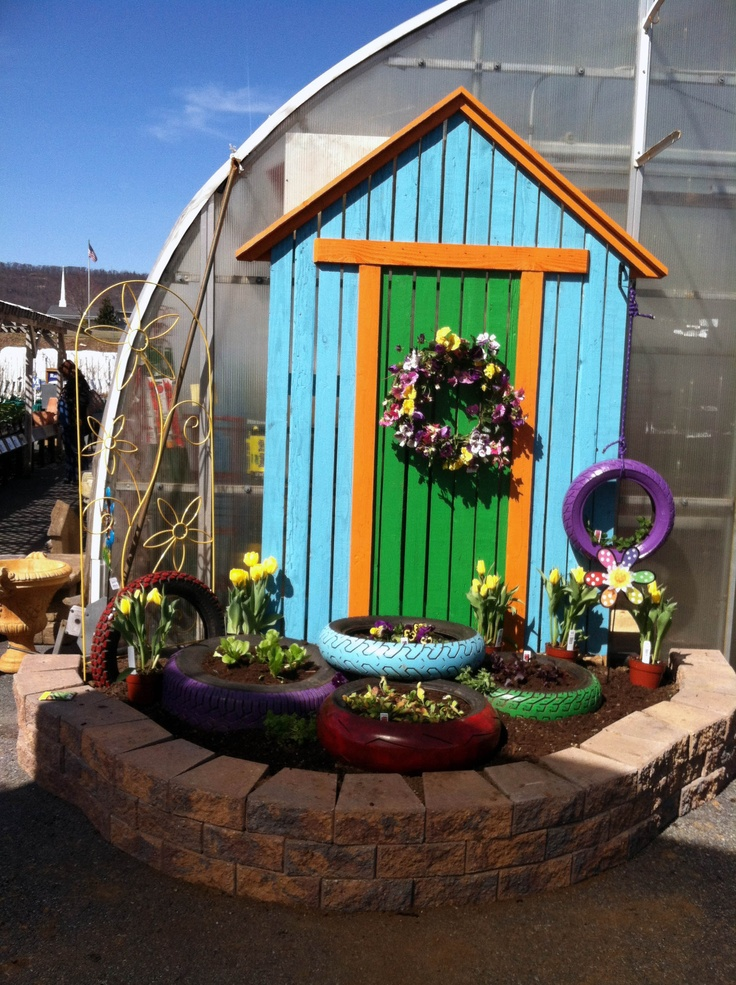 A Fun #Garden display of #Spring Plants at our Linglestown Garden Center. Get creative with us at Stauffers of Kissel Hill Garden Centers. www.skh.com