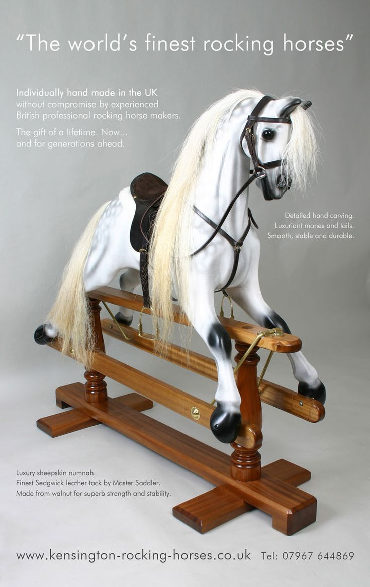 Victorian Rocking Horse - Shropshire Rocking Horse Company - Classic rocking horse maker and restorer, hand-crafts beautiful wooden rocking horses.