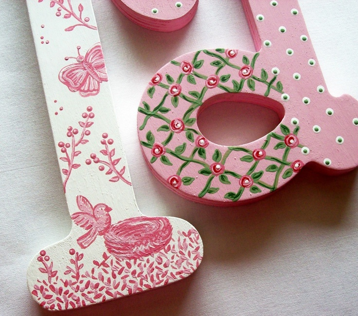 Ideas for decorating letters.
