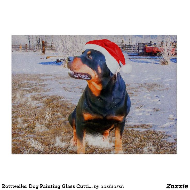 #Rottweiler #Dog #Painting Glass #Cutting Board