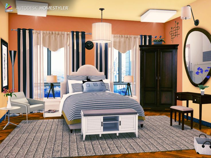 """Check out my #interiordesign """"Bedroom"""" from #Homestyler http://autode.sk/Phu6OH"""