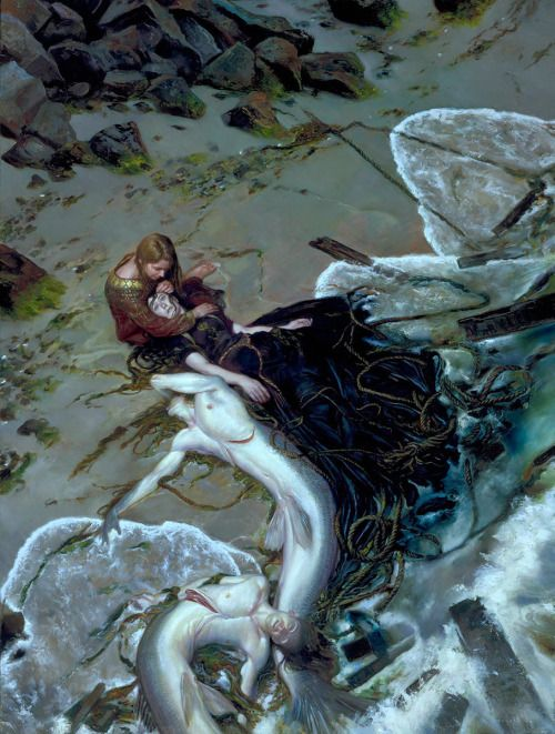 "fantasyartwatch: "" The Golden Rose by Donato Giancola """