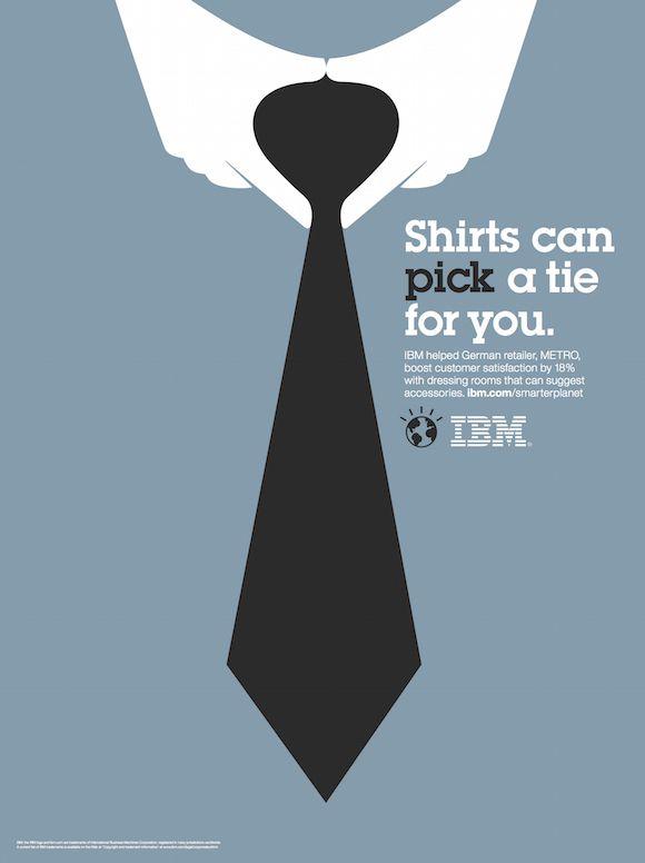 Negative space art / design / illustrations / ads - IBM: Smarter Planet (8)