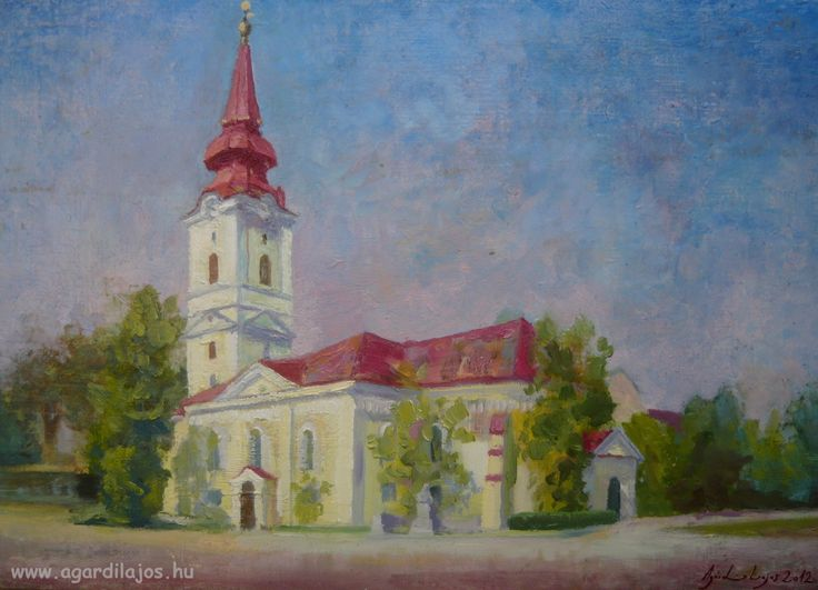 Szoboszló temploma  olaj  35x50