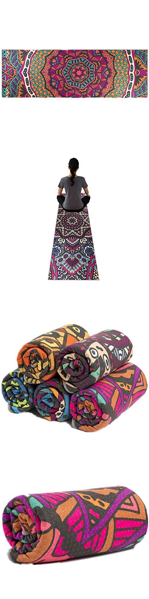 Yoga towel floral print skidless printed eco friendly lightweight insanely absorbent non