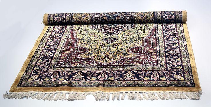 Indian Kashmiri Silk Carpet | Handcrafts of India