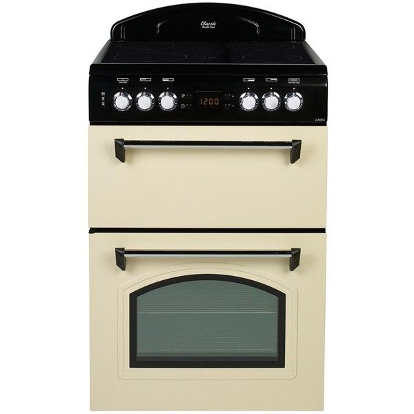 Leisure Cla60Cec 60Cm Electric Classic Mini Range Cooker ($650) ❤ liked on Polyvore featuring home, kitchen & dining, small appliances, ceramic cooker, electric cooker, kitchen electrics, mini cooker and mini oven