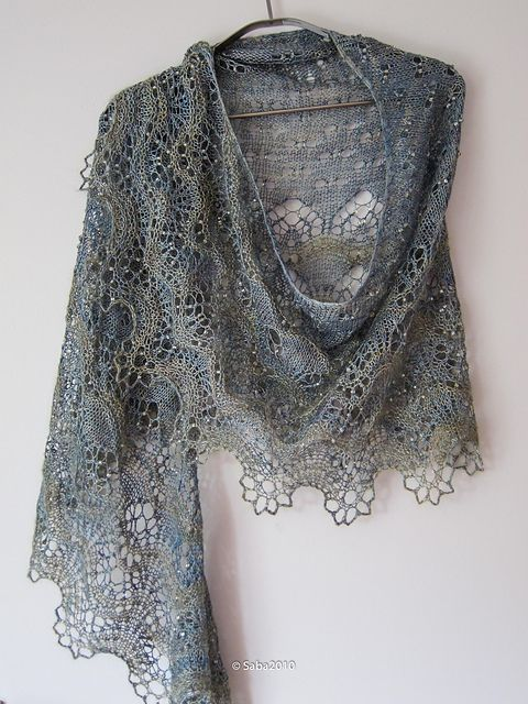 Knitted Lace Shawl Pattern : Ocean Breeze pattern by Boo Knits Ravelry
