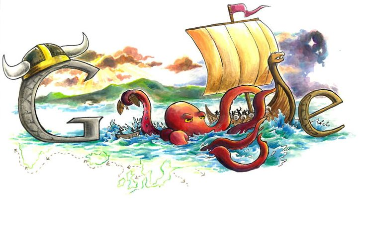 Some of the google doodles that these kids have submitted are pretty awesome... I like this viking inspired doodle
