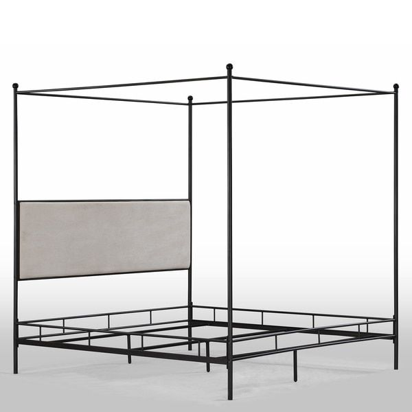 Lauren King Metal Canopy Bed  Overstockcom Shopping  The Best Deals on  Beds