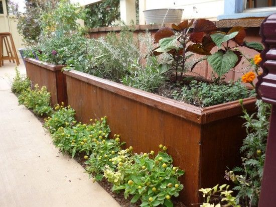 Love the plants in front of the Planter Box
