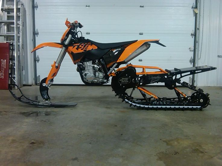 Too bad I don't live where it snows. Ktm tracked bike epicccc