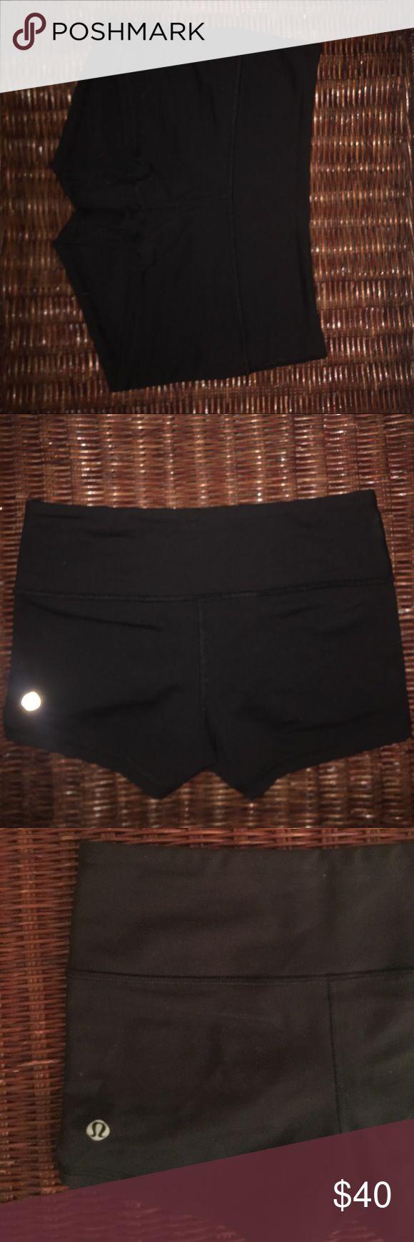 Lulu spandex shorts size 4 - worn once Lulu spandex shorts size 4- worn once lululemon athletica Shorts