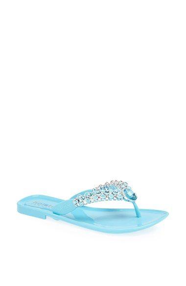 Holster Fashion 'Trinket' Jelly Thong Sandal PVC capri, clear graphite (59.95) NA