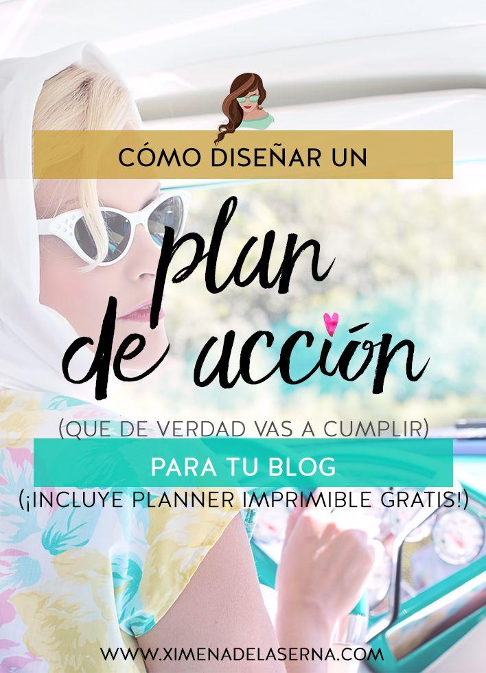 Cómo diseñar un plan de acción para tu blog (Que de verdad vas a cumplir)