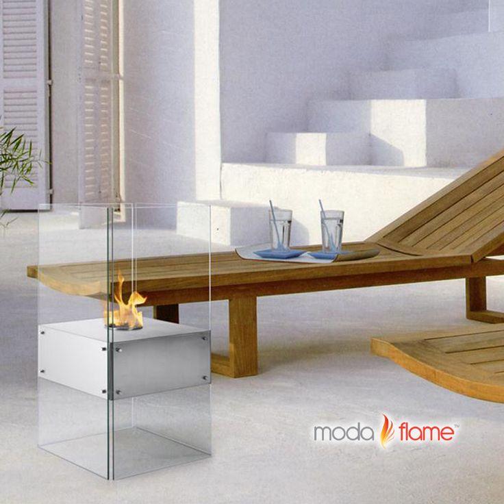 Moda Flame Cella Free Standing Floor Indoor Outdoor