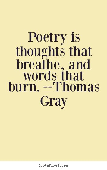 Poetry quote.