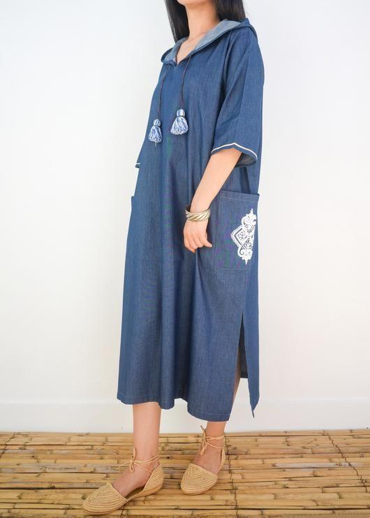 NORA MOROCCAN LINEN DRESS JELLABA - Milsouls