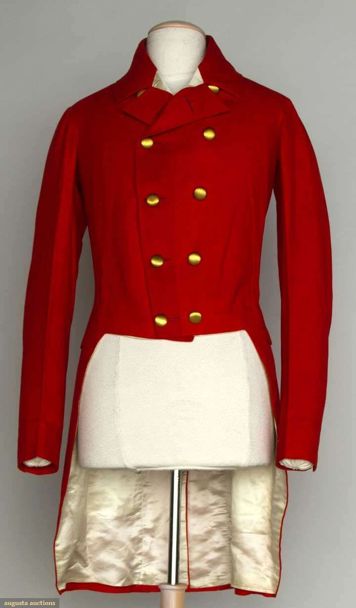 Wool Hunting Coat, America, 19th C, Augusta Auctions, November 13, 2013 - NYC, Lot 176
