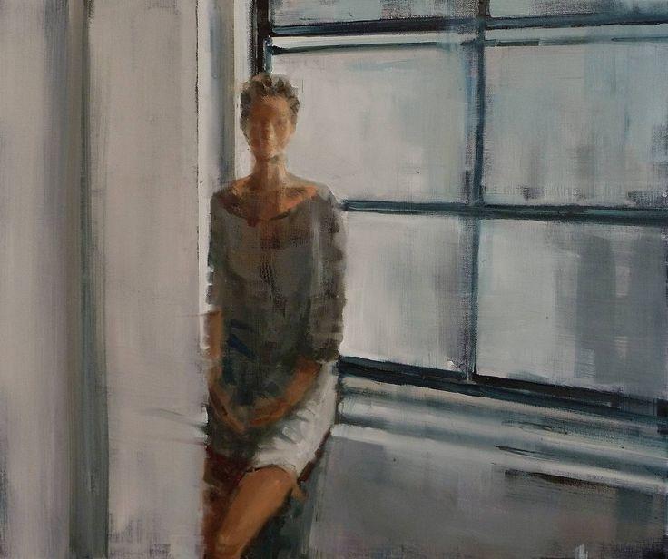 "Saatchi Art Artist: Fanny Nushka Moreaux; Oil 2014 Painting ""Early Morning, 2014"""