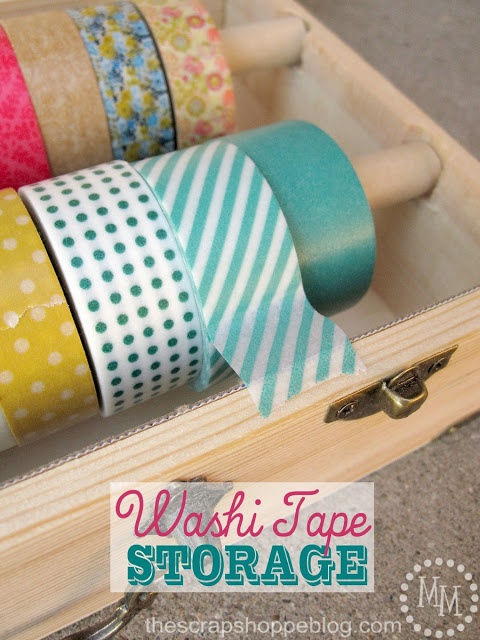 The Scrap Shoppe: Washi Tape Storage  this is super awesome!