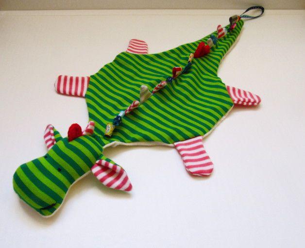 Schnullertücher - Der besondere Schnullerhalter ♥ Bio-Schmusedrache - ein Designerstück von vonLangeHand bei DaWanda