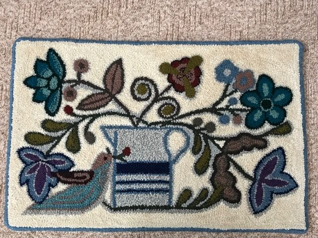 """ Best of Show"" handmade punchneedle wool rug. This rug measures 21.5"" x 33"". I use only 100% Canadian wool from PEI and NB. $350.00"