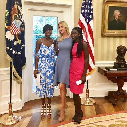 America's First Daughter, Ivanka Trump Writes About Meeting 2 Excaped  Chibok Girls In White House: Review