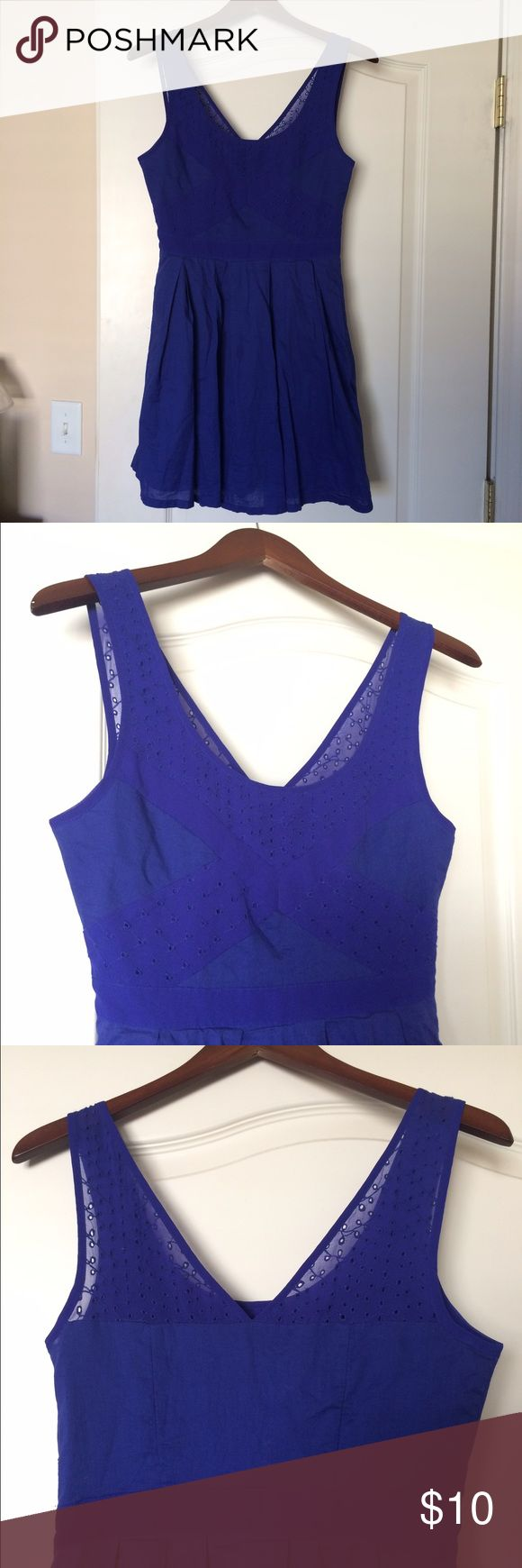 American Eagle Sundress Violet fit & flair dress by American Eagle. Perfect for spring! Juniors sizing - fits more like a women's size 6. American Eagle Outfitters Dresses Mini