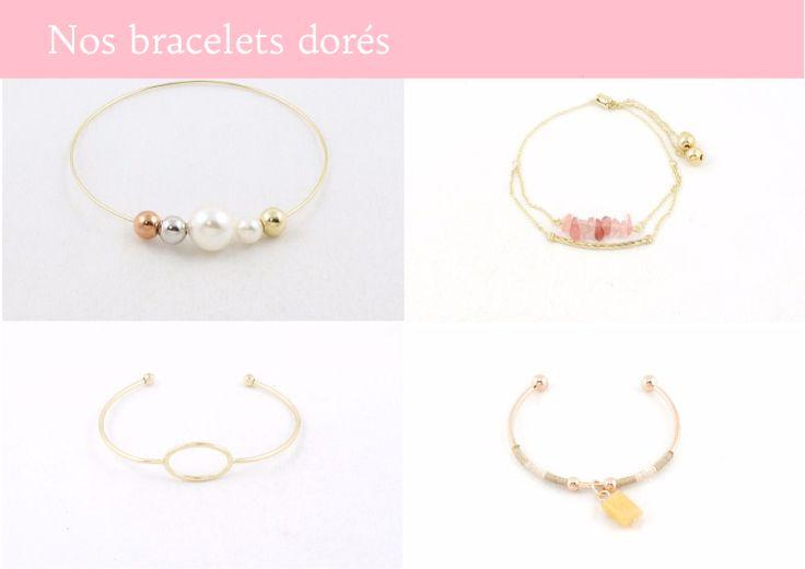 Découvrez tous nos bracelets dorés casual chic ! Alexanne Paris, bijoux fantaisie en ligne