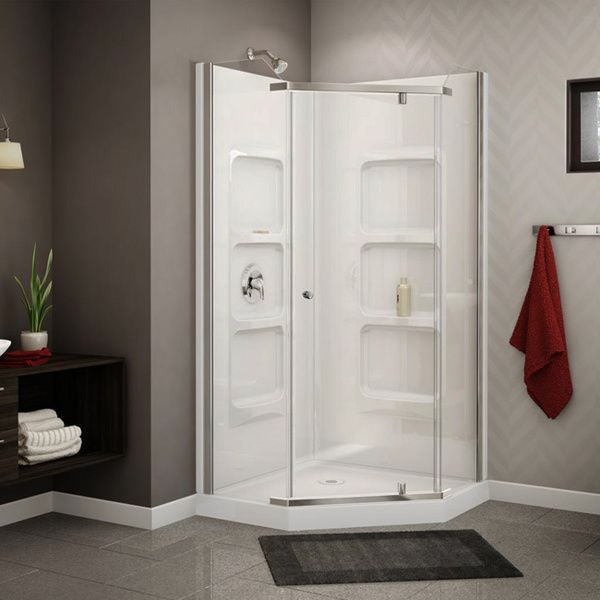 Outstanding 36 Corner Shower Kit Contemporary - Plan 3D house ...