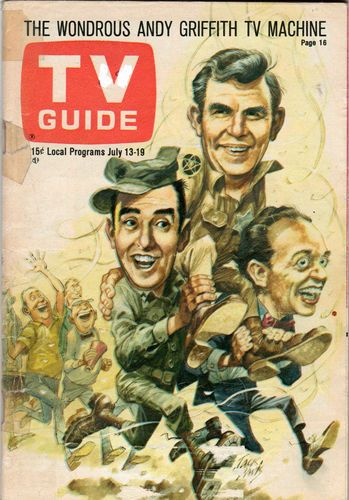 Andy Griffith Show TV Guide, Jim Nabors as Gomer Pyle, Don Knotts as Barney Fife