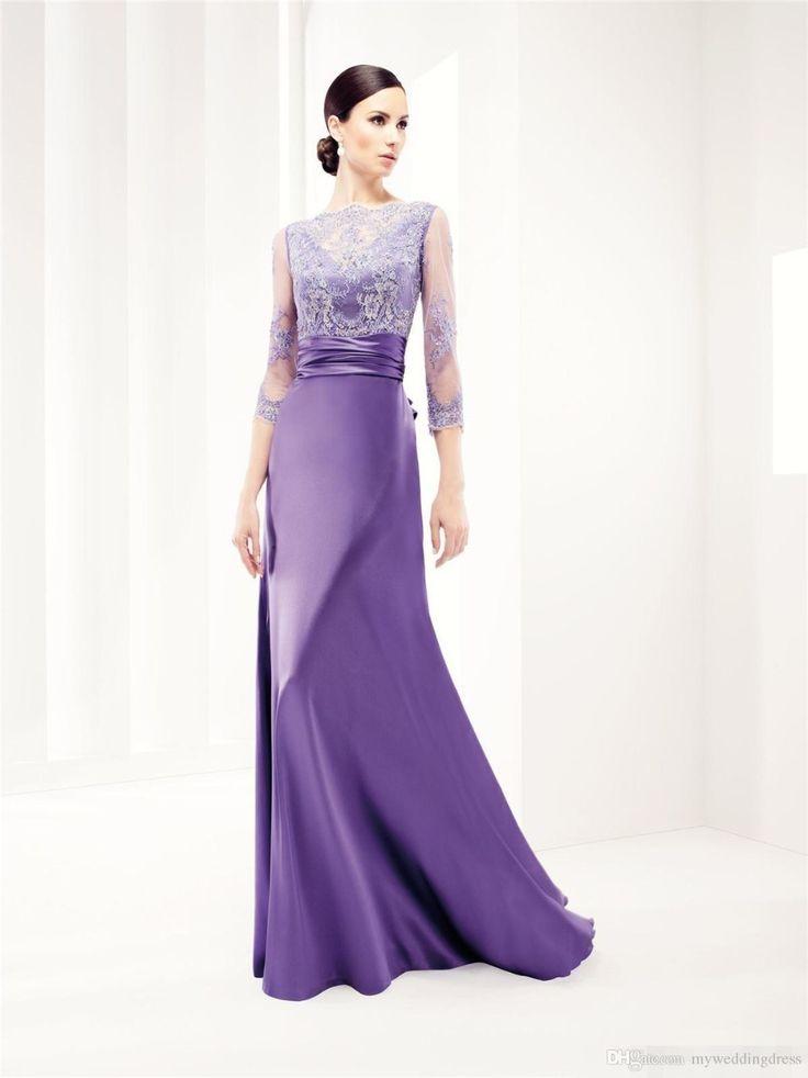 Lace dress purple suit
