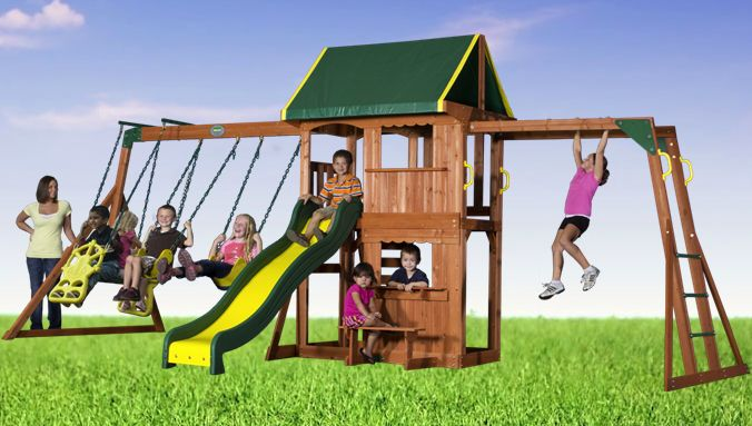 25 best images about wooden swing sets on pinterest diy for Rope swing plans