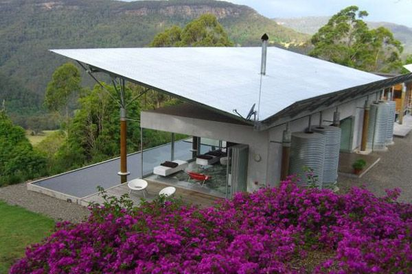 Shipping Container Building - Kangaroo Valley House