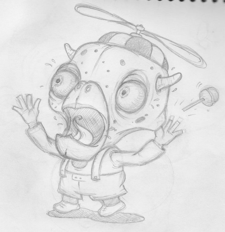 Halloween Scared Kid - Doodling & Sketching ;)