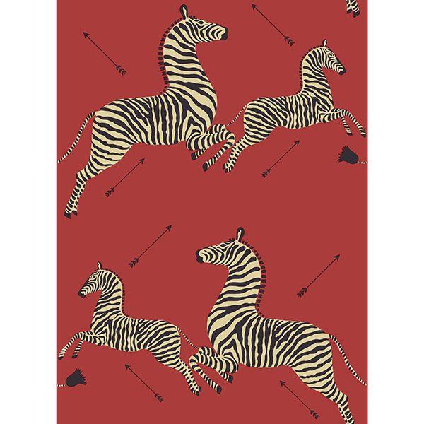 Masai Red Zebra Safari Scalamandre Self Adhesive Wallpaper Zebra Wallpaper Self Adhesive Wallpaper Wallpaper Samples
