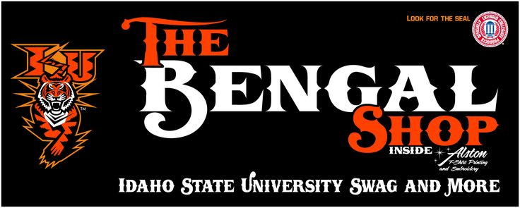 Idaho State University Bengals Logo | The Bengal Shop | Idaho State University | Licensed ApparelAlston Ink ...