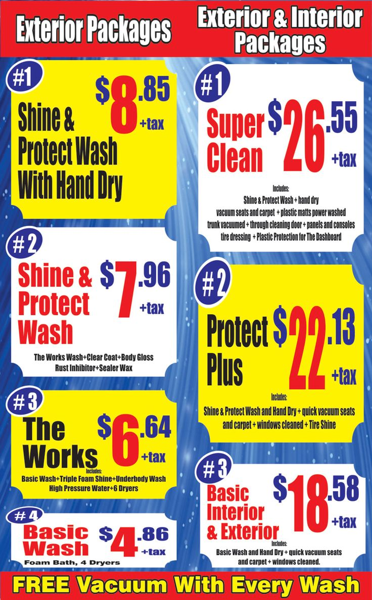 packages ► http://www.nanakcarwash.com/packages/